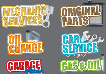 Car Service Titles - бесплатный vector #386395