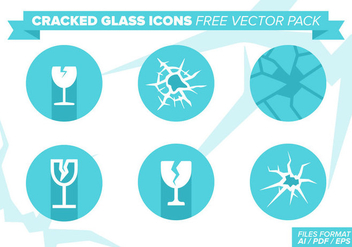 Cracked Glass Icons Free Vector Pack - Free vector #386415