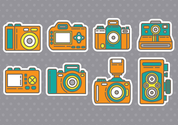Camera icons - vector #386435 gratis