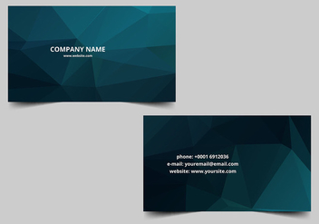 Free Vector Visiting Card Background - Kostenloses vector #386455