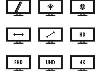 Free Led Icon Monitor - Free vector #386535