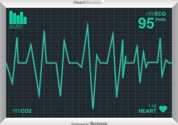 Vector Cardiogram Of Heart - бесплатный vector #386545