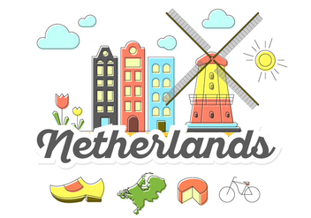Netherlands Icons - vector #386615 gratis