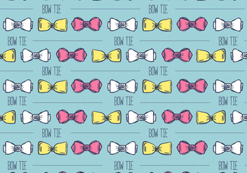 Hand Drawn Bow Tie Background - vector gratuit #386665