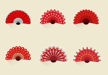 Beautiful Female Hand Fan - vector gratuit #386805