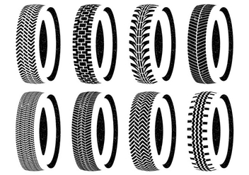 Tire Wheel Vector Set - бесплатный vector #386845