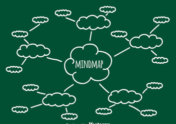 Sketch Mind Map Vector - Free vector #386905