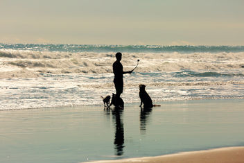 Reflecting on Man and His best friend - image gratuit #387065