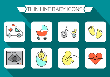 Free Baby Icons - vector gratuit #387125