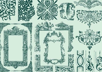 Ornamental Frames And Dividers - Free vector #387145