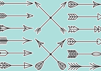 Flechas Line Arrows - vector gratuit #387195