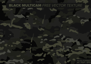 Black Multicam Free Vector Texture - бесплатный vector #387345