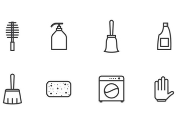 Simple Cleaning Icon Vectors - Free vector #387395