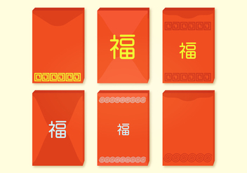 Red Packets Vector Collection - vector gratuit #387455