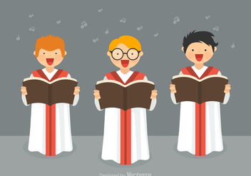 Free Boys Choir Vector - vector gratuit #387495