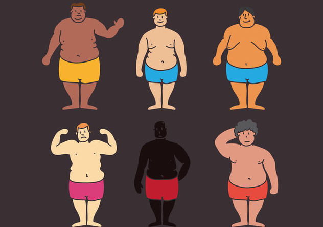 Fat Guy Vectir - vector gratuit #387545