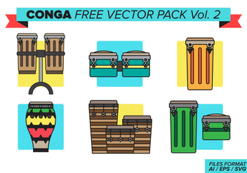 Conga Free Vector Pack Vol. 2 - vector gratuit #387575