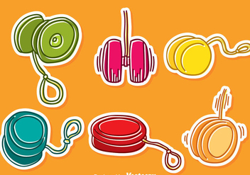 Hand Drawn Yoyo Vector Set - Free vector #387585