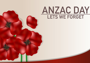 Anzac Flower Celebration Background - vector #387605 gratis