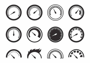 Free Tachometer Icons Vector - vector #387665 gratis