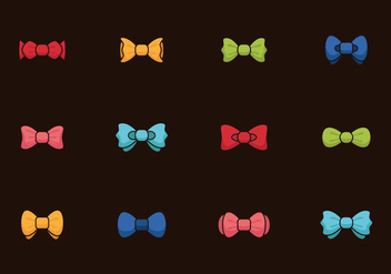 Bow Tie Colors Vintage - vector gratuit #387725