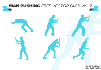 Man Pushing Free Vector Pack Vol. 2 - Kostenloses vector #387745