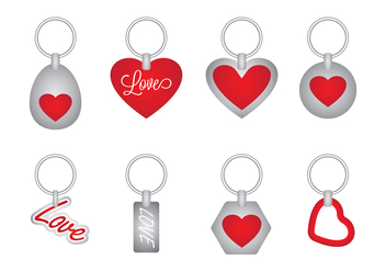 Love Key Holder Vector - vector gratuit #387825