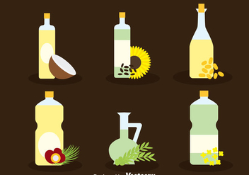 Herbal Oil Collection Vector - vector gratuit #387855