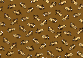 Termite Cartoon Pattern - бесплатный vector #387875