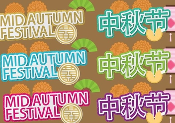 Mid Autumn Titles - Free vector #387985