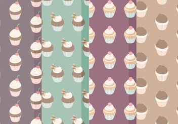 Vector Cupcake Pattern - Free vector #387995