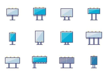 Billboard Icons - vector gratuit #388005