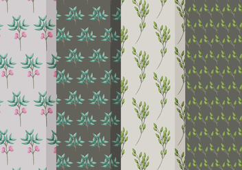 Beautiful Branch Vector Patterns - vector gratuit #388025