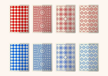Red And Blue Card Back - vector gratuit #388045