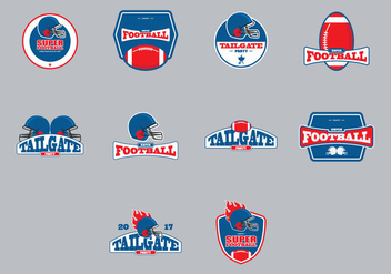 Tailgate Emblem Icon Set - Free vector #388095