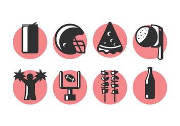 Tailgate Party Icons 2 - vector #388105 gratis