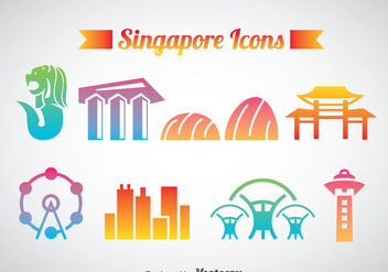 Sinagpore Icons Vector - Free vector #388125