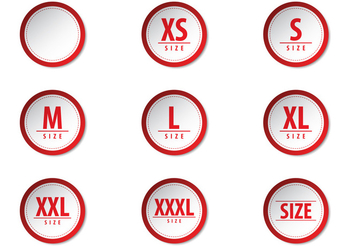 Free Clothing Size Label Vectors - Free vector #388165