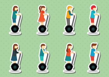 Free Segway People Vector - Free vector #388175
