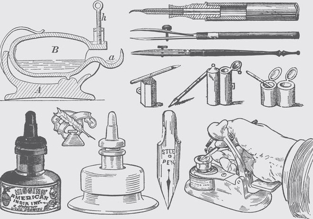 Writing Tools - Free vector #388225