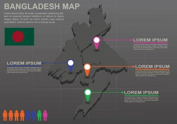 Free Bangladesh Map Infography - vector gratuit #388295