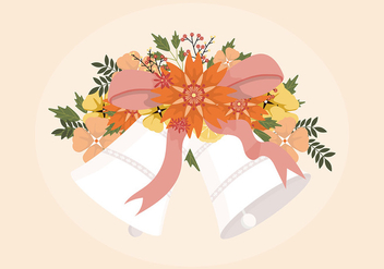 Wedding Bells Illustration - vector #388405 gratis