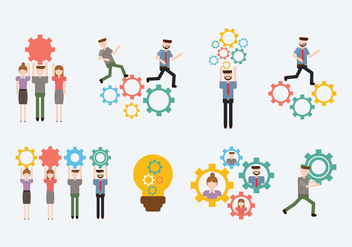 Free Working Together Vector - Free vector #388435