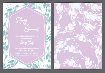 Vector Lilac Wedding Invite - vector gratuit #388455