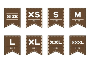Free Cloth Size Label - vector #388465 gratis