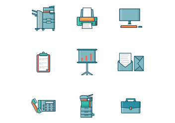 Free Office Tools Vector - vector gratuit #388645