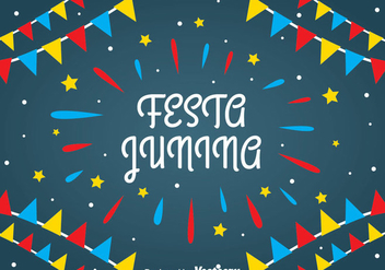 Festa Junina Background - бесплатный vector #388715