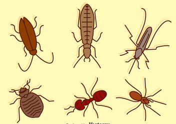 Hand Drawn Pest Collection - vector gratuit #388725