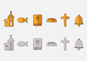 Communion Icon Vector Set - vector gratuit #388835