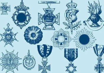 Crosses Badges And Ornaments - vector gratuit #388855